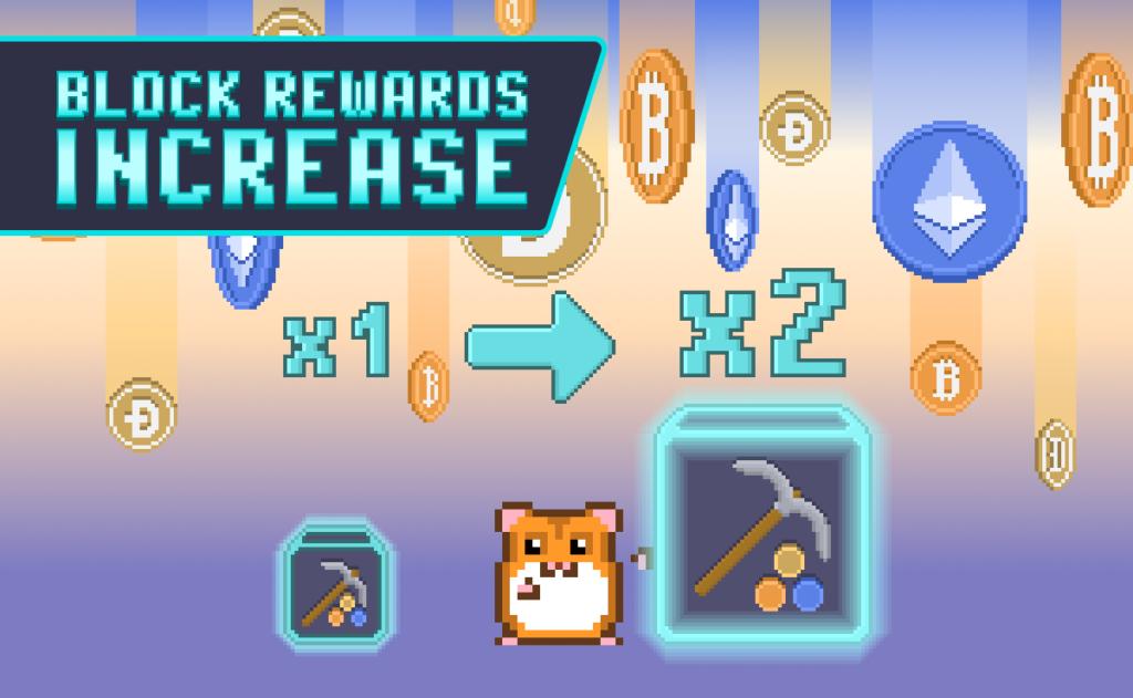 BTC, DOGE and ETH Rewards Doubled