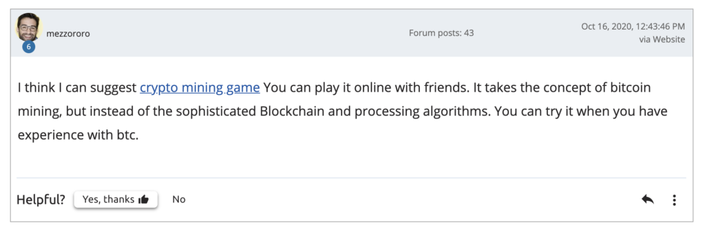 Forum Referral Hunting Guide – forum comment