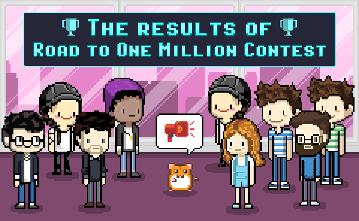 One Million Users Reached! Road to 1M Contest Winners